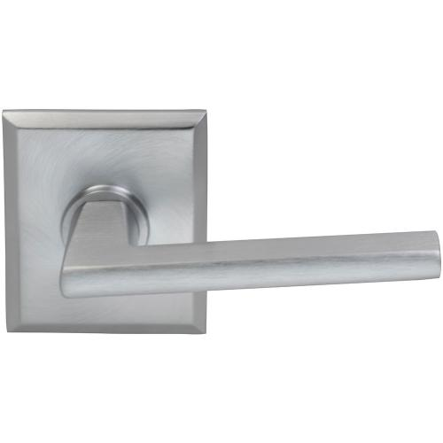 Interior Modern Lever Latchset with Rectangular Rose in (US26D Satin Chrome Plated)