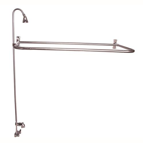 """D"" Rod Shower Unit with Code Spout - Polished Nickel / 54"" x 26"""