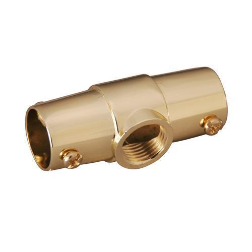 Shower Rod Ceiling Tee - Polished Brass