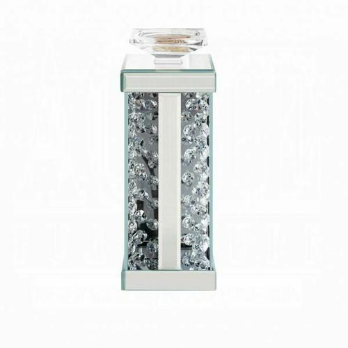 ACME Nysa Accent Candleholder (Set-2) - 97621 - Mirrored & Faux Crystals