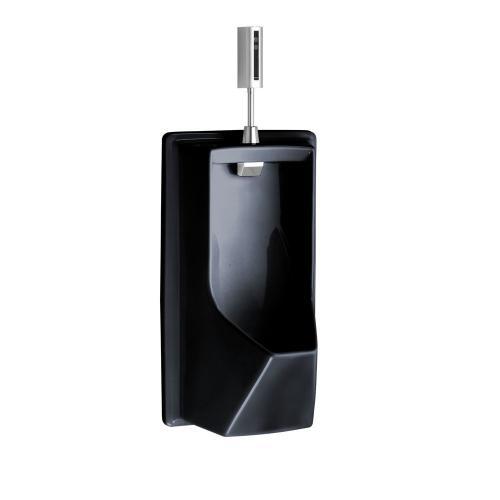 Lloyd Urinal with Electronic Flush Valve - ADA - Ebony
