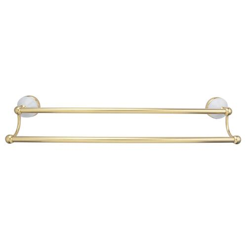 "Anja Double Towel Bar - Antique Brass / 18"""