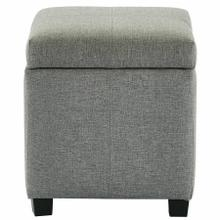 See Details - Juno Square Storage Ottoman in Grey
