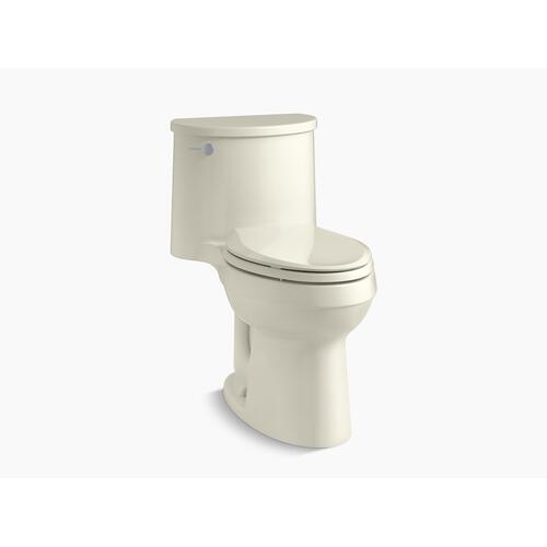 Biscuit One-piece Elongated 1.28 Gpf Chair-height Toilet With Quiet-close Seat