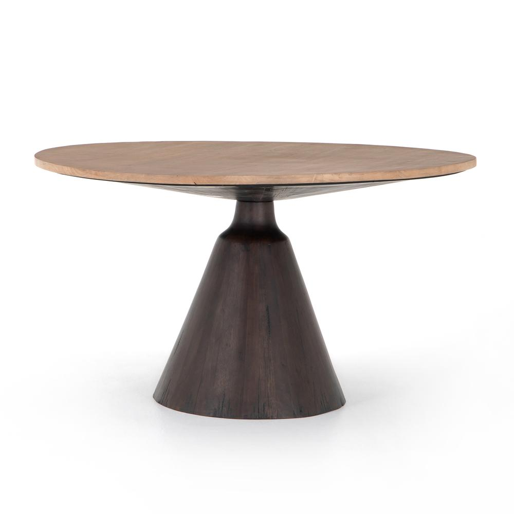 See Details - Light Brushed Parawood Finish Bronx Dining Table
