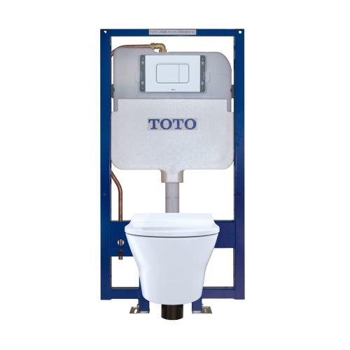 MH® Wall-Hung Toilet & DUOFIT In-Wall Tank System, 1.6 GPF & 0.9 GPF, Elongated Bowl, Slim Seat - White