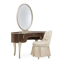 Vanity Desk Mirror & Chair 3 PC