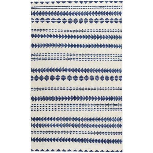 Capel Rugs - Viking Stripe Alabaster Lapis - Rectangle - 5' x 8'