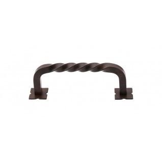 Top Knobs - Twist Pull 3 3/4 Inch (c-c) w/Backplates - Patina Rouge