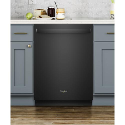 Stainless Steel Tub Dishwasher with Third Level Rack Black