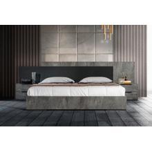 Product Image - Nova Domus Ferrara - Modern Volcano Oxide Grey Bed