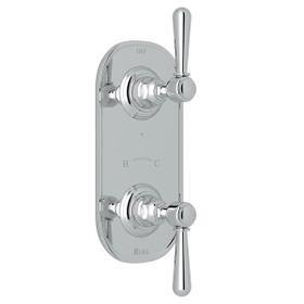 Verona 1/2 Inch Thermostatic and Diverter Control Trim - Polished Chrome with Metal Lever Handle