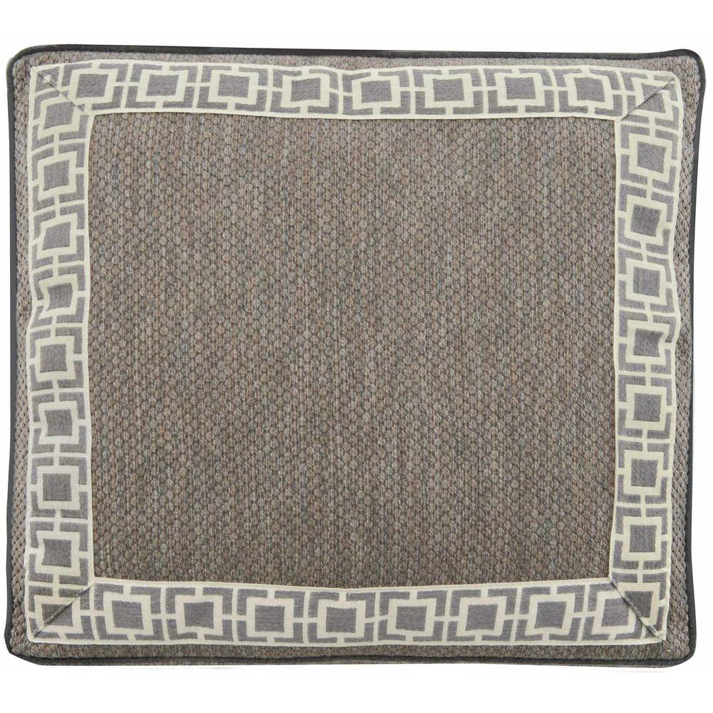 Accent Pillow Square Box Border with Picture Frame & Cord