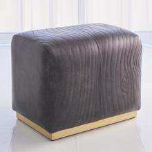 See Details - Forest Ottoman-Charcoal Leather