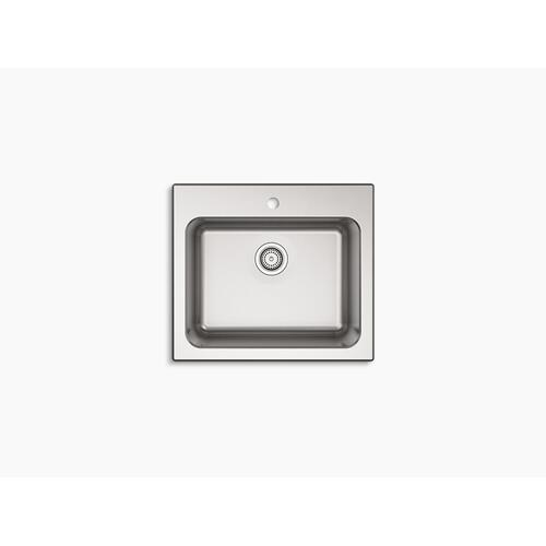 """25"""" X 22"""" X 11-9/16"""" Top-mount Utility Sink With Single Faucet Hole"""