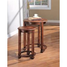 Traditional Warm Amber Nesting Table