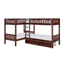 Corner Bunk Bed with Storage Boxes