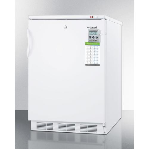 Built-in Undercounter Freezer Capable of -25 C Operation; Includes Audible Alarm, Lock, and Hospital Grade Plug