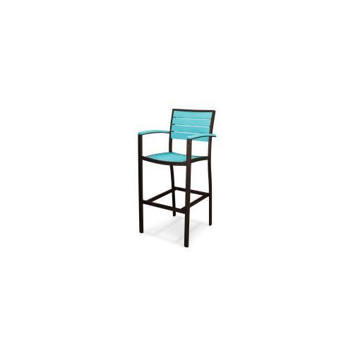 Polywood Furnishings - Eurou2122 Bar Arm Chair in Textured Bronze / Aruba