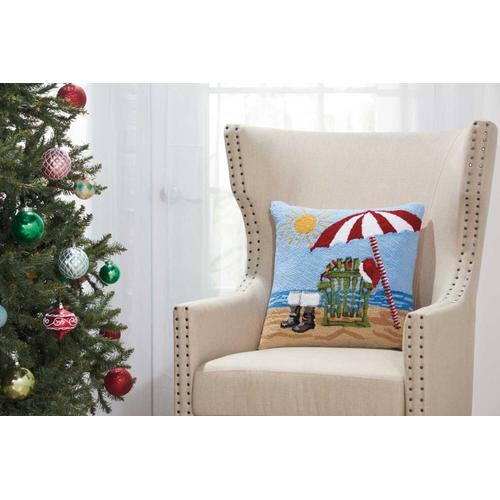 """Home for the Holiday Yx094 Multicolor 18"""" X 18"""" Throw Pillow"""