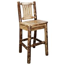 Glacier Country Collection Barstool with Back
