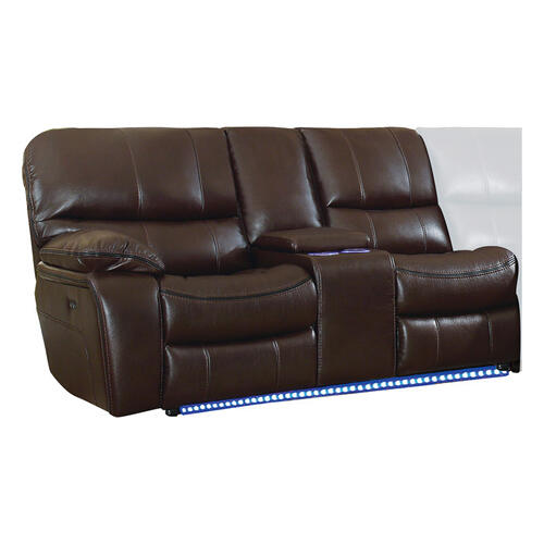 Gallery - Power Left Side Reclining Love Seat with Center Console, LED and USB Port