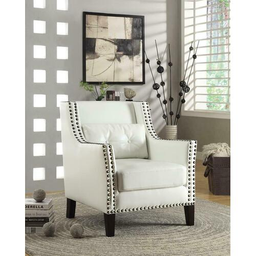 Traditional White Accent Chair