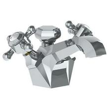 View Product - Deck Mounted 2 Handle Monoblock Lavatory Mixer