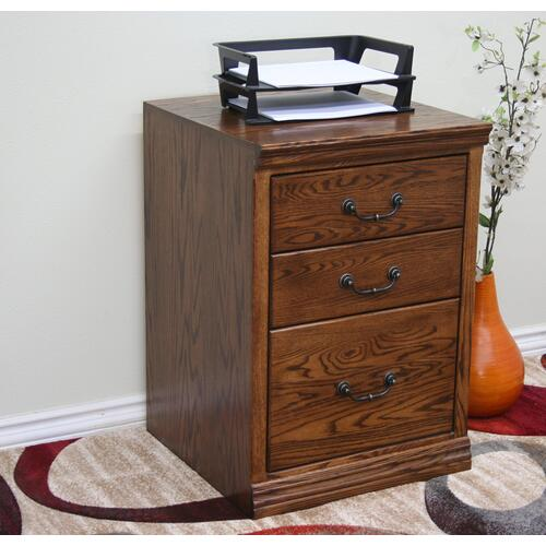 """Gallery - O-T646 Traditional Oak 2-Drawer Locking Vertical File Cabinet, 21""""W x 21""""D x 30""""H"""