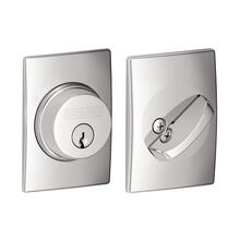 View Product - Single Cylinder Deadbolt with Century Trim - Bright Chrome