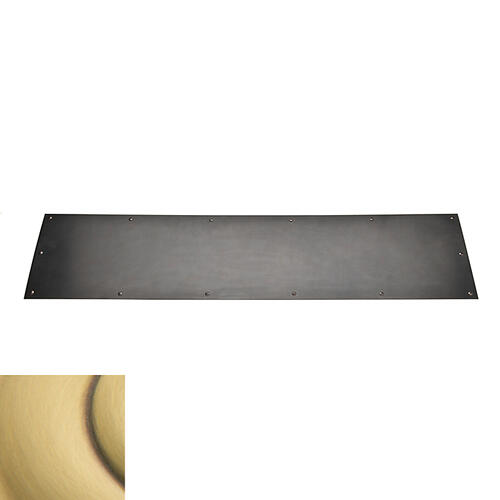 Baldwin - Satin Brass and Brown Kick Plate