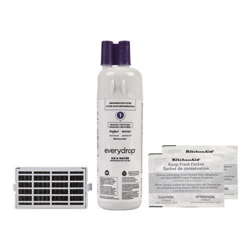 everydrop® Refrigerator Water Filter 1- EDR1RXD1 (Pack of 1) + Refrigerator FreshFlow Air Filter + FreshFlow Produce Preserver Refill