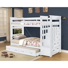 Beckley Twin over Twin Bunkbed, White