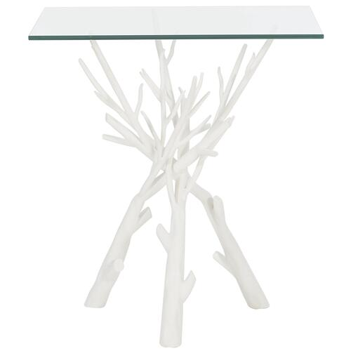 Marnie End Table in Chalky White