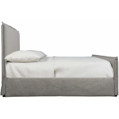 California King-Sized Gerston Slipcovered Bed in Espresso