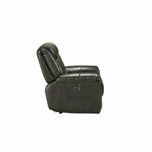 ACME Imogen Recliner (Power Motion) - 54807 - Gray Leather-Aire