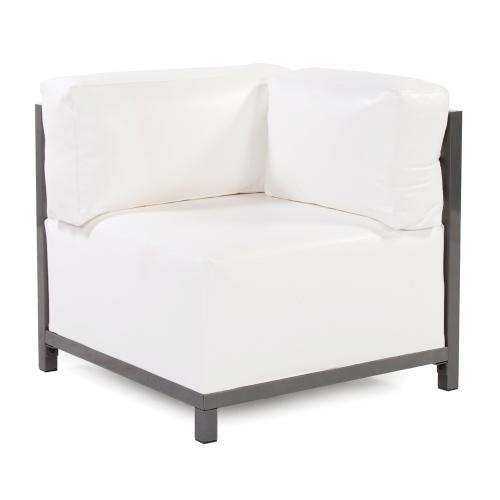 Axis Corner Chair Atlantis White Titanium Frame