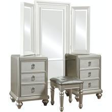 See Details - Diva Vanity Dresser With Stool