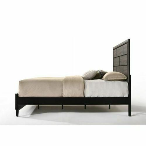 ACME Valdemar Eastern King Bed - 27047EK - Weathered Gray