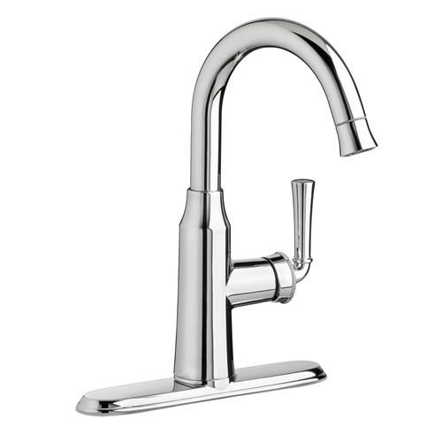 American Standard - Portsmouth 1 Handle High Arc Pull Down Bar Sink Faucet  American Standard - Stainless Steel