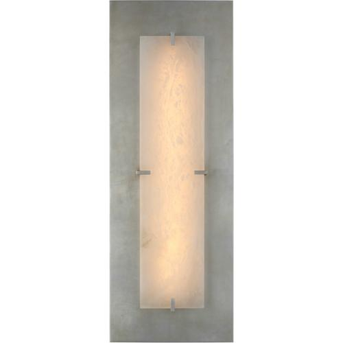 Visual Comfort - AERIN Dominica LED 10 inch Burnished Silver Leaf and Alabaster Rectangle Sconce Wall Light, Large