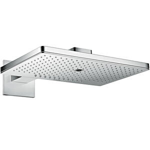 Chrome Overhead shower 460/300 3jet with shower arm and square escutcheon Product Image