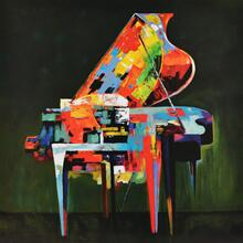 Product Image - Modrest Absract Piano Oil Painting