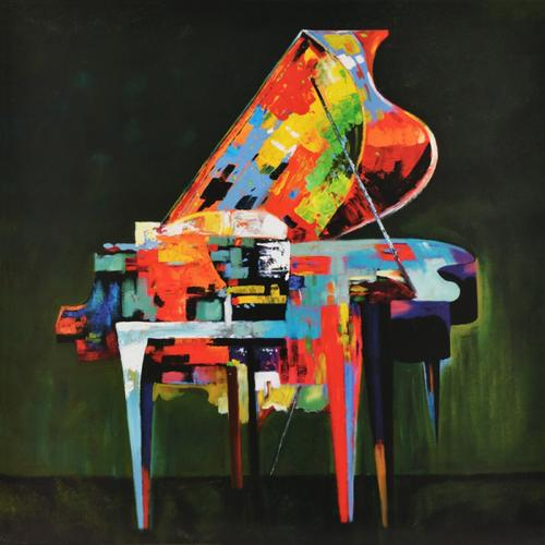 Gallery - Modrest Absract Piano Oil Painting