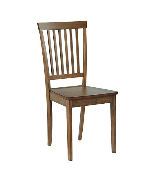 Dining Chair- 2/CTN - Brown Finish