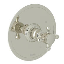 Pressure Balance Trim without Diverter - Polished Nickel with Cross Handle