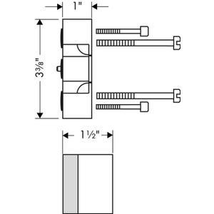 "1"" Extension Kit, iBox Universal Plus Rough"