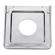 Square Chrome Gas Burner Pan