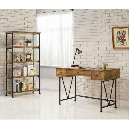 Coaster - Barritt Industrial Antique Nutmeg Bookcase