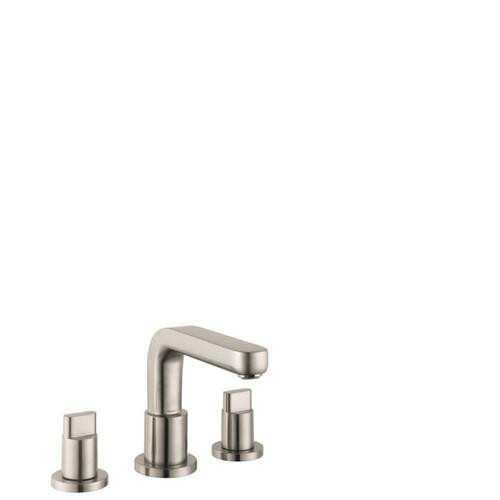 Brushed Nickel 3-Hole Roman Tub Set Trim with Full Handles